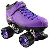 Riedell Dart Purple Quad Speed Skates with Matching Laces for Roller Derby