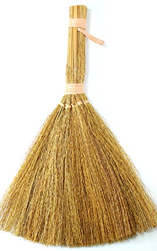 - 6 inch Natural Straw Mini Craft Brooms 12 Pieces