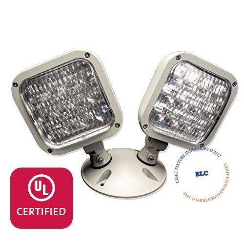 LFI Lights - UL Certified - 3.6V Double LED Remote Head Emergency Light - Wet Location - RHBWPL2
