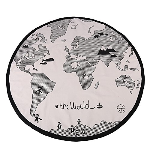 Baby Play Mat Safe Kid World Map Mat Activity Gym Durable Early Educational Round Carpet Toddler Adventure Activity Crawling Pad (Best Baby Play Mat Australia)