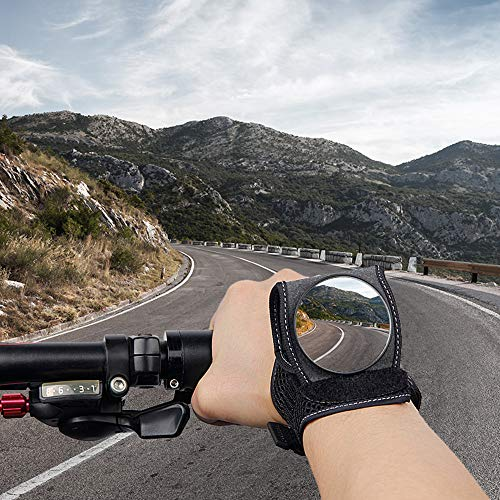 good.hand Bike Mirrors for Safety Rearview, Adjustable Bicycle Wrist Cycling Mirrors, Wrist Wear Mirrors for Cyclists Riding Cycling Accessories,Ideal Xma's Gifts for Cyclists, Children