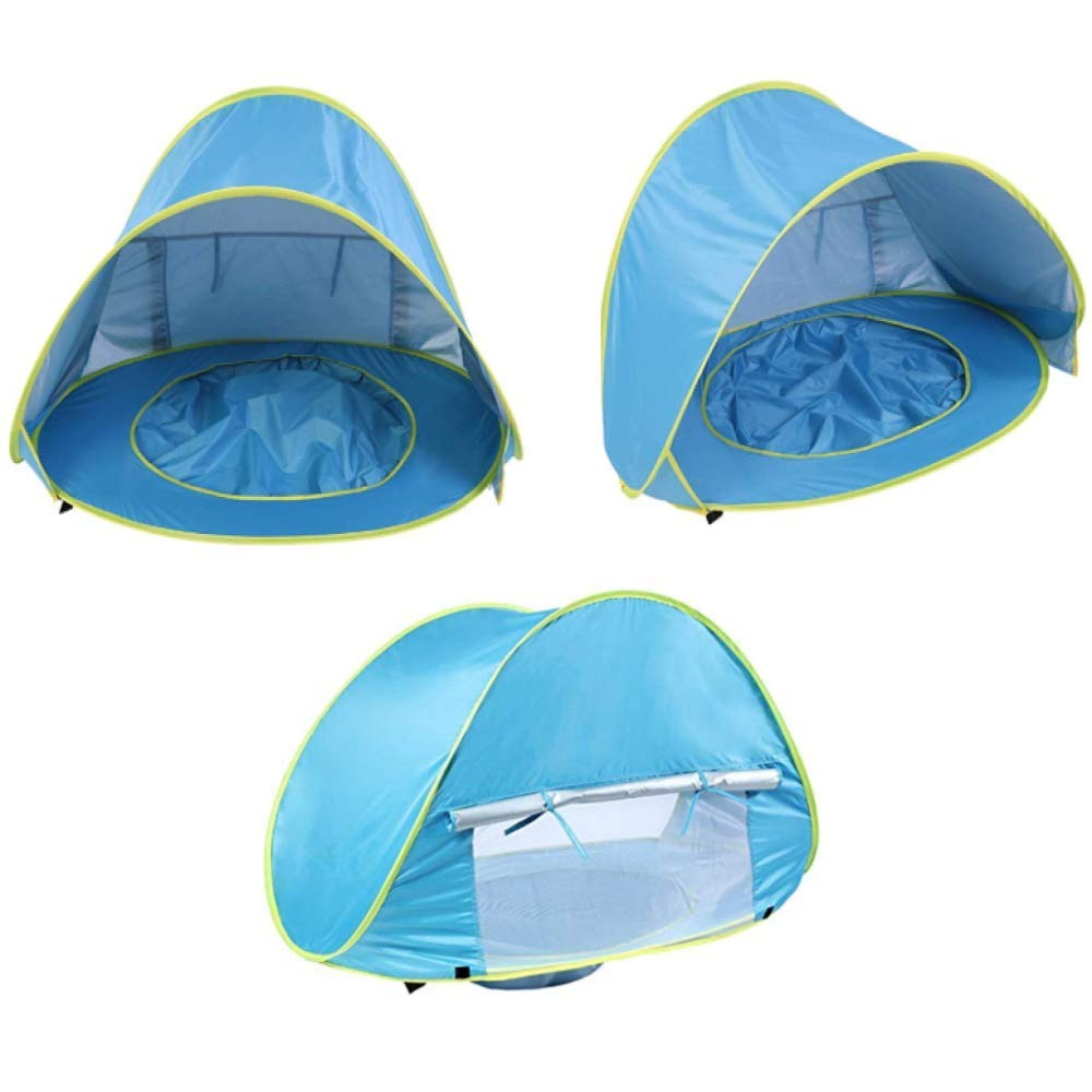 Kiddiezelt-Pool HUSAN tragbares Baby-Strandzelt UPF 50+ Sun Shade Shelter leichtes Pop-Up-Zelt 0-3 Jahre f/ür 1-2 Kinder