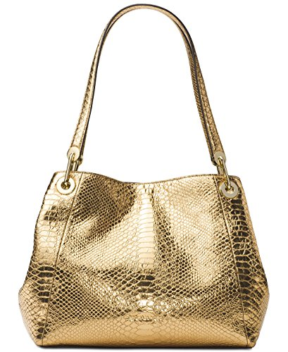 Michael Kors Women's Raven Large Leather Shoulder Bag (Gold) by Michael Kors