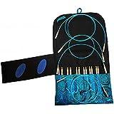 "Kit complet d'aiguilles à tricoter circulaires interchangeables hiyahiya - sharp 5"" (12.50cm) petit"
