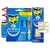 7. Raid Fly Ribbon & Window Fly Trap Bundle (32-Pack), Outdoor & Indoor Fly Traps, 20pcs Fly Tape Ribbon Traps + 12pcs Window Fly Catcher, Effective Fly Traps for Kitchen & Food Prep Areas