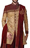 INMONARCH Mens Golden Indowestern Royal Look 3 Pc 5 Button IN516S42 42 Short Golden