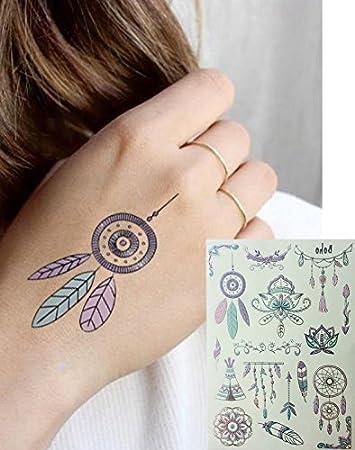 Metallic Tattoo Silver y multicolor Tatuajes atrapasueños Muelle ...