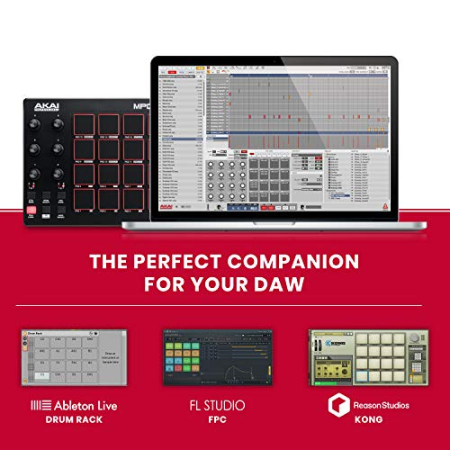 AKAI Professional MPD218 | 16-Pad USB/MIDI Controller With MPC Pads, 6 Assignable Knobs, Production Software Included