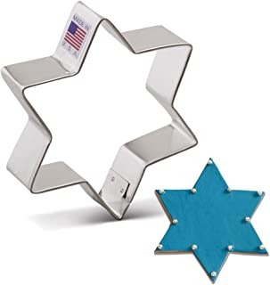 """product image for Ann Clark Cookie Cutters Star of David Cookie Cutter, 3.8"""""""