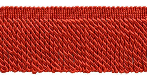 DÉCOPRO 10 Yard Value Pack of 2.5 Inch Bright Red Bullion Fringe Trim|Style# EF25|Color: 88 (30 Ft / 9.1 Meters)
