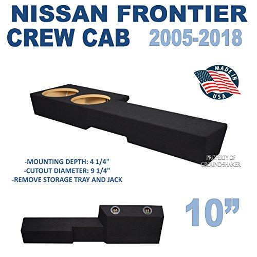 """Frontier Crew-Cab 2005-2018 10"""" Dual Sealed Sub Box"""