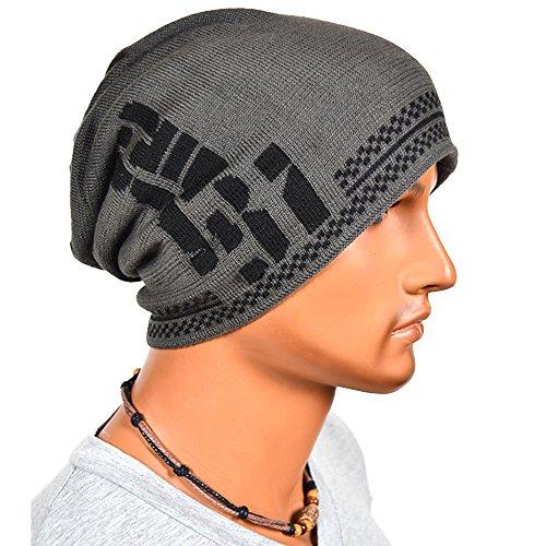 EINSKEY Men's Winter Warm Knit Hat Wool Baggy Slouchy Beanie