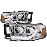 DNA Motoring HL-HPL-LED-DR02-CH-AM Headlight Assembly, Driver and Passenger Side