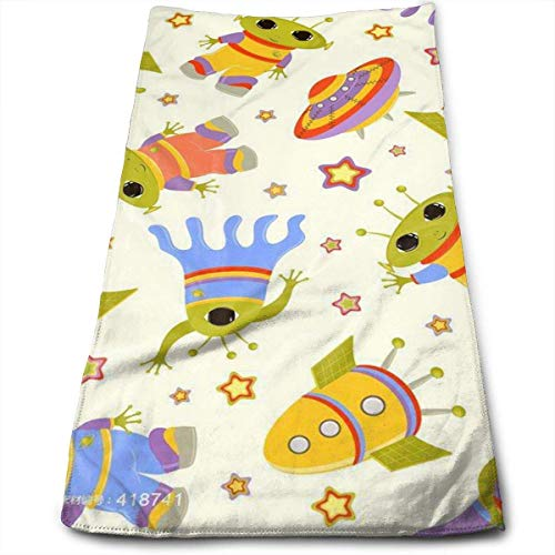 Space Shuttle, Alien, Flying Saucers Multi-Purpose Microfiber Towel Ultra Compact Super Absorbent and Fast Drying Sports Towel Travel Towel Beach Towel Perfect for Camping, Gym, Swimming. ()