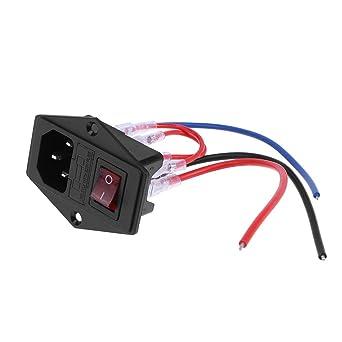 akaddy 220 V/110 V fuente de alimentación Interruptor Socket ...