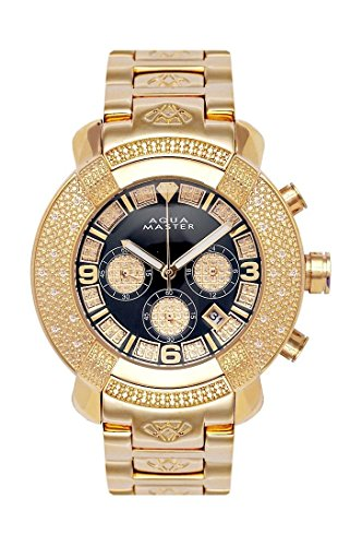 Aqua Master Mens Diamond Watch Hip Hop Jewelry 96-61 by Aqua Master