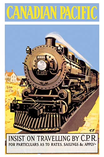 - ArtParisienne Canadian Pacific Insist on Traveling by CPR Fred Gardner 20x30-inch Canvas Print