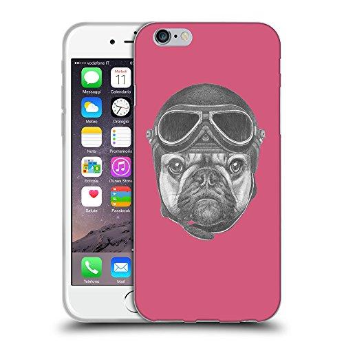 GoGoMobile Coque de Protection TPU Silicone Case pour // Q05250614 Casque bulldog Rougir // Apple iPhone 7