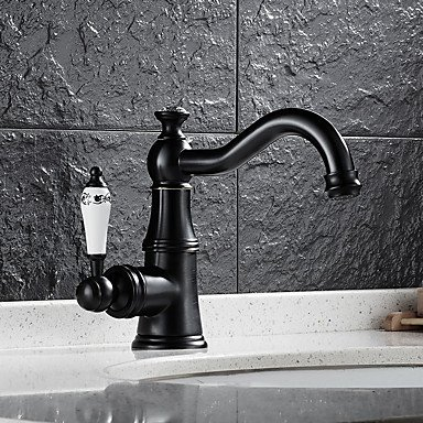 Y&M Contemporary Centerset Waterfall Widespread Pre Rinse with Ceramic Valve Single Handle One Hole for Chrome , Bathroom Sink Faucet