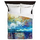 CafePress - Shower Monet Smoke - Queen Duvet Cover, Printed Comforter Cover, Unique Bedding, Microfiber