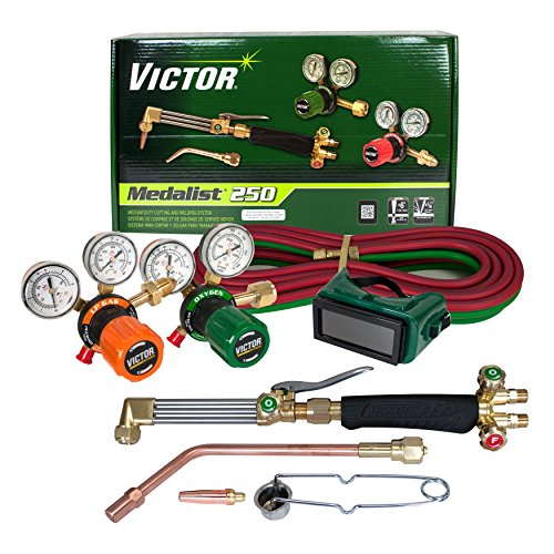 Victor Technologies 0384-2544 Medalist 250 System Medium Duty Cutting System, Propane/Natural Gas Service, G250-60-510LP Fuel Gas (250 Propane)