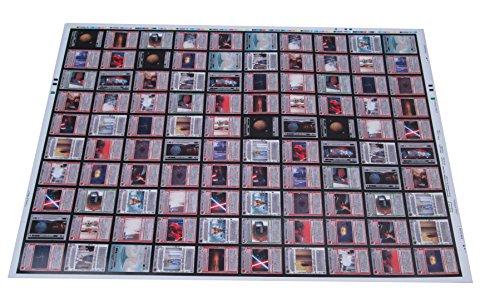 1997 Lucasfilms Decipher Star Wars Rebel Trading Card Uncut Sheet (100 Cards) ()