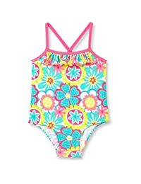 Op Baby Girl Ruffle Trim One-Piece Swimsuit