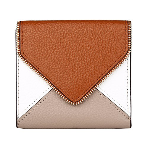 - Lavemi RFID Blocking Small Compact Mini Bifold Credit Card Holder Leather Pocket Wallets for Women(Envelope Brown)