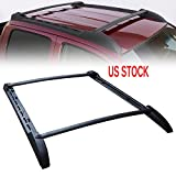 MotorFansClub Top Roof Luggage Rack Cross Bar Rail Set for Tacoma 2005-2017 Double Cab