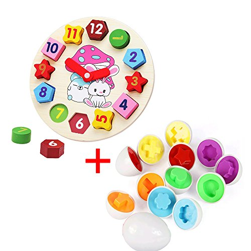6 Pcs Smart Capsule Egg Kids Baby Study Color Shape Blocks Puzzle Educational Toys