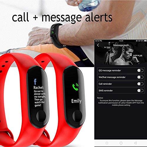 Amazon.com: Smart Watch Pedometer Digital Sport Wrist Relojes De Hombre for iPhone iOS Android (Red): Cell Phones & Accessories