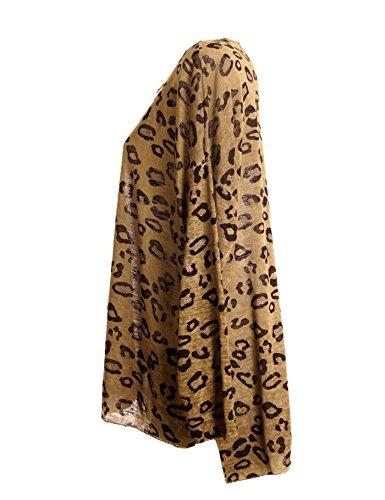 Fashion Italy - Jerséi - camiseta manga larga - para mujer Beige