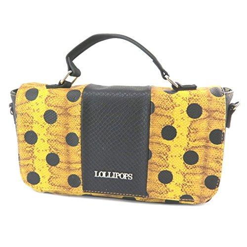 Lollipops P3504 - Bolso de la bolsa amarillo negro - 26.5x15x8 cm.