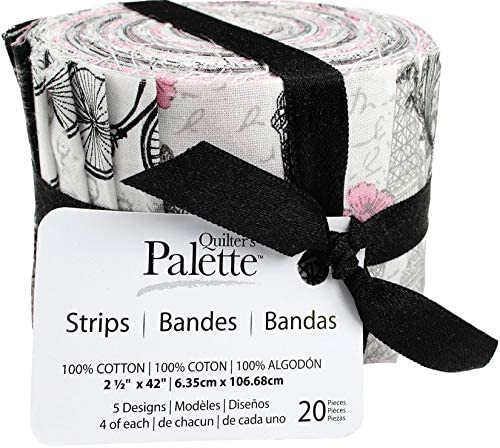 Fabric Editions JL206421 Fabric Palette Jellies 2.5X42 20//Pkg-Summertime In Paris