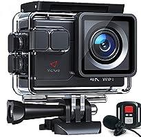 Victure AC700 Action Cam 4K 20MP wasserdichte 40M Unterwasserkamera WiFi helmkamera mit EIS Sensor, 2.4G Fernbedienung,...