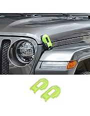 Hoolcar Hood Latch Lock Catch Brackets Cover for 2018-2021 Jeep Wrangler JL JLU & 2020-2021 Gladiator JT