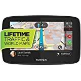 TomTom GO 520 5-Inch GPS Navigation Device Free Lifetime Traffic & World Maps, WiFi-Connectivity, Smartphone Messaging, Voice Control Hands-Free Calling