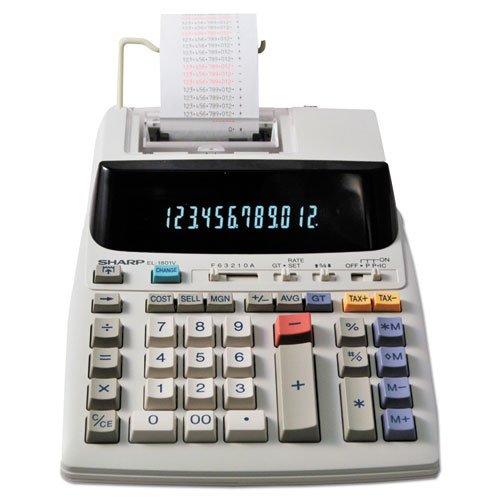 Sharp EL1801V EL-1801V Two-Color Printing Calculator Black//Red Print 2.1 Lines//Sec