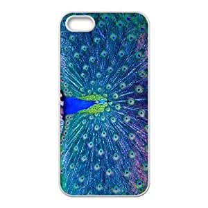 GGMMXO Peacock Shell Phone Case For iPhone 5,5S [Pattern-1]