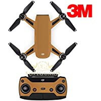 SopiGuard 3M Matte Copper Precision Edge-to-Edge Coverage Vinyl Sticker Skin Controller 3 x Battery Wraps for DJI Spark