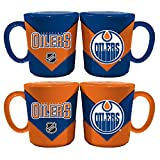 Memory Company NHL Edmonton Oilers Chevron Salt & Pepper Shaker Mugs, One Size, Multicolor