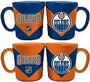 Memory Company NHL Edmonton Oilers Chevron Salt & Pepper Shaker Mugs, One Size, Multic
