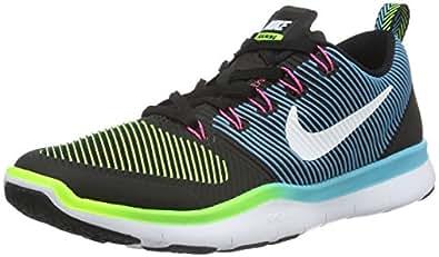 Nike Men's Free Train Versatility, BLACK/WHITE-ELCTRIC GREEN-HYPER PINK, 6 M US
