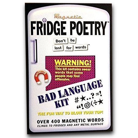 Fridge Poetry - Magnetic Words - Bad Language Kit - Funny Rude Words Gift Present Poem Muse Magnet The Magnet Shop