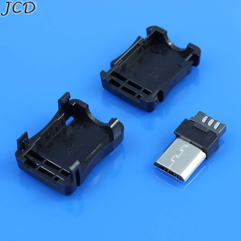 Computer Cables Sukvas Micro USB 5 Pin T Port Male Plug Socket Connector with Plastic Cover for DIY Dropshipping Adapter PCB SDA Data Cable Line Cable Length: Other