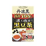 [100% Tamba black bean domestic] [black bean tea leaving darker] [tea pack]