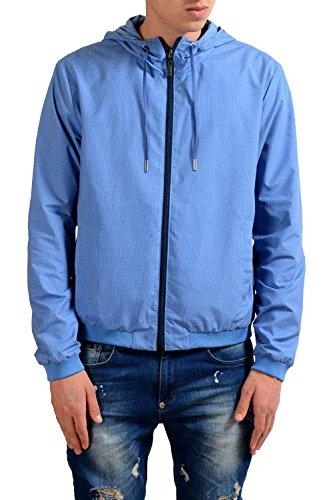 Fendi Men's Blue Full Zip Hooded Reversible Windbreaker US S IT - For Clothes Men Fendi