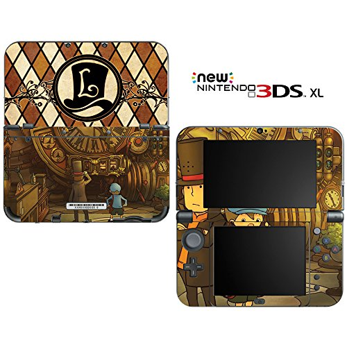 Professor Layton Decorative Video Game Decal Cover Skin Protector for New Nintendo 3DS XL (2015 Edition)