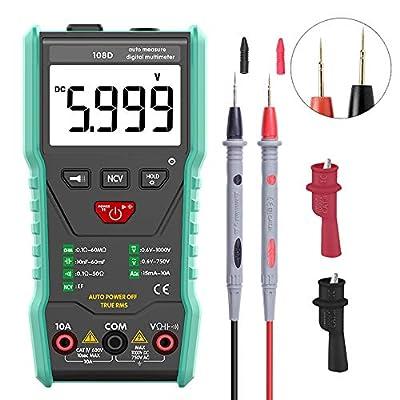 Fully Autorange Multimeter TRMS 6000 Measuring AC/DC Voltage/Current Voltage Alert Amp/Ohm Volt Multi Tester Continuity Test