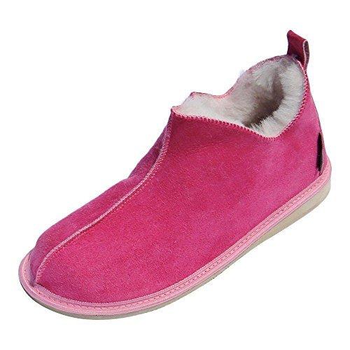 Cendrillon Peau Premium Rose 100 Leather Mouton sur Peau Femme avec de Chaussons de Merino Laine Chaussures Hollert Chaussures Mouton X5zfwf